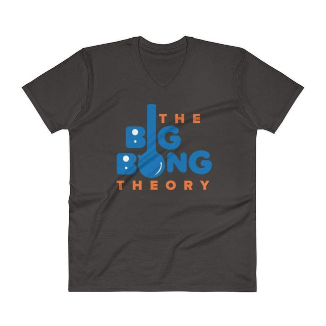 Smoke / S Bengali Unisex Short Sleeve V-Neck Jersey Tee - The Big Bong Theory