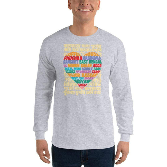 Sport Grey / S Bengali Ultra Cotton Long Sleeve T-Shirt - Bangla Love