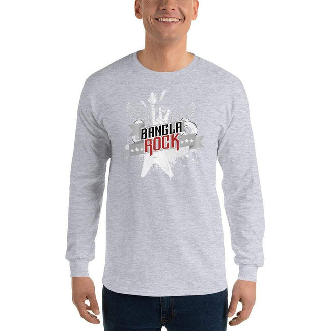 Sport Grey / S Bengali Ultra Cotton Long Sleeve T-Shirt -Bangla Rock