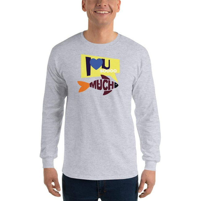 Sport Grey / S Bengali Ultra Cotton Long Sleeve T-Shirt - I love you so much