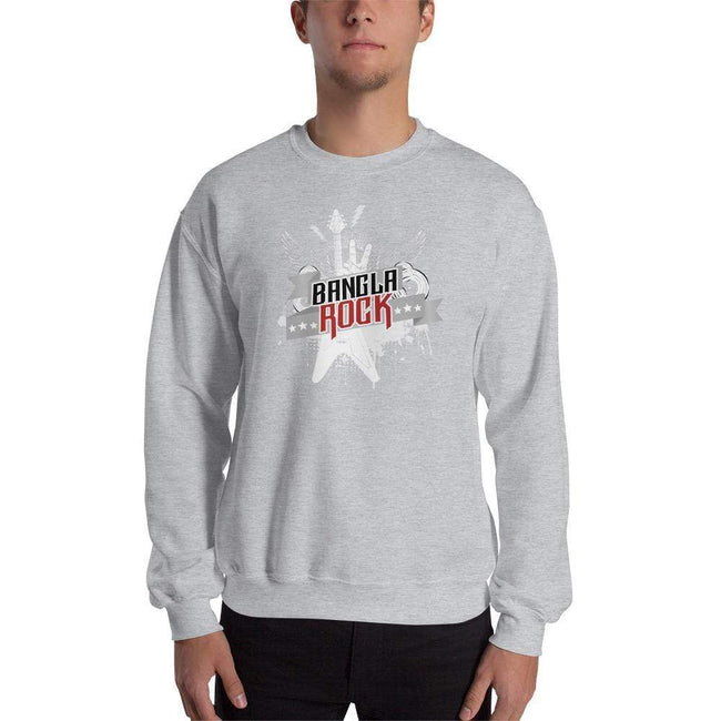 Sport Grey / S Bengali Unisex Heavy Blend Crewneck Sweatshirt -Bangla Rock