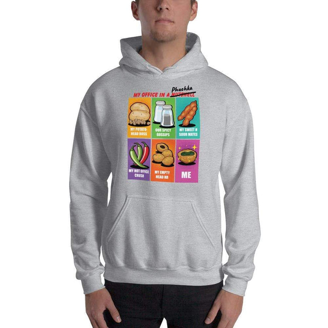 Sport Grey / S Bengali Unisex Heavy Blend Hooded Sweatshirt - Office Phuchka