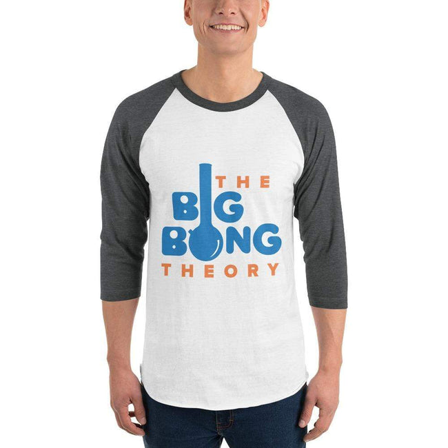 White/Heather Charcoal / XS Bengali Unisex Fine Jersey Raglan Tee   - The Big Bong Theory