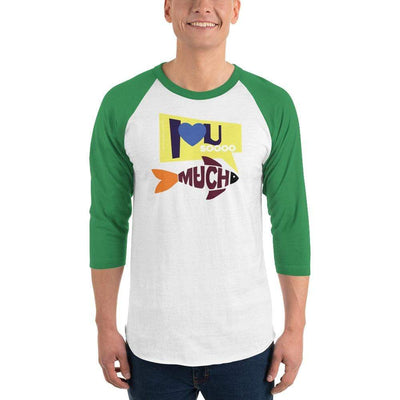 White/Kelly / XS Bengali Unisex Fine Jersey Raglan Tee   - I love you so much