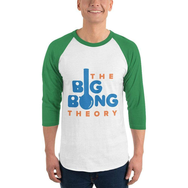 White/Kelly / XS Bengali Unisex Fine Jersey Raglan Tee   - The Big Bong Theory
