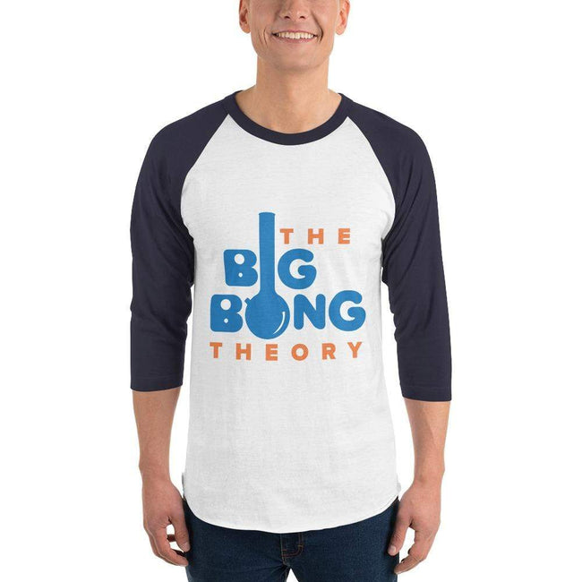 White/Navy / XS Bengali Unisex Fine Jersey Raglan Tee   - The Big Bong Theory