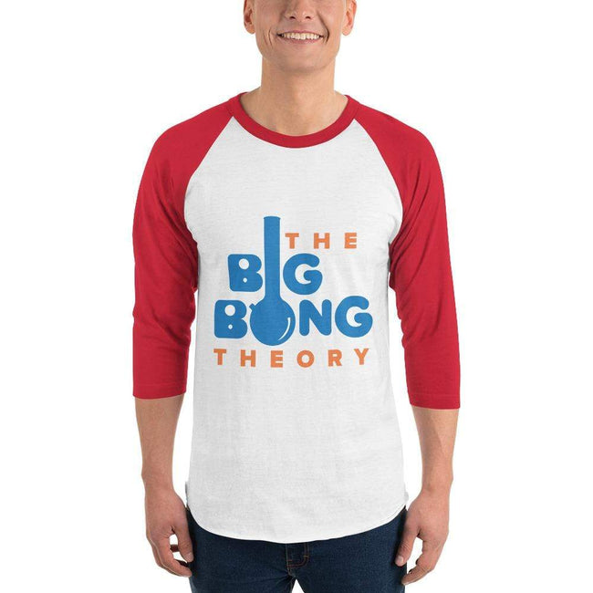 White/Red / XS Bengali Unisex Fine Jersey Raglan Tee   - The Big Bong Theory