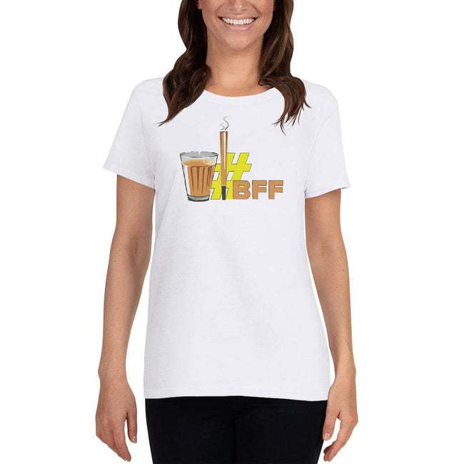 White / S Bengali Heavy Cotton Short Sleeve T-Shirt -BFF
