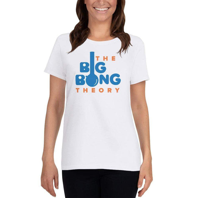 White / S Bengali Heavy Cotton Short Sleeve T-Shirt -The Big Bong Theory