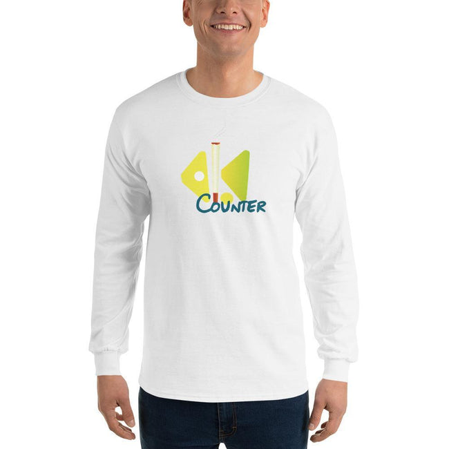 White / S Bengali Ultra Cotton Long Sleeve T-Shirt - Bar Counter