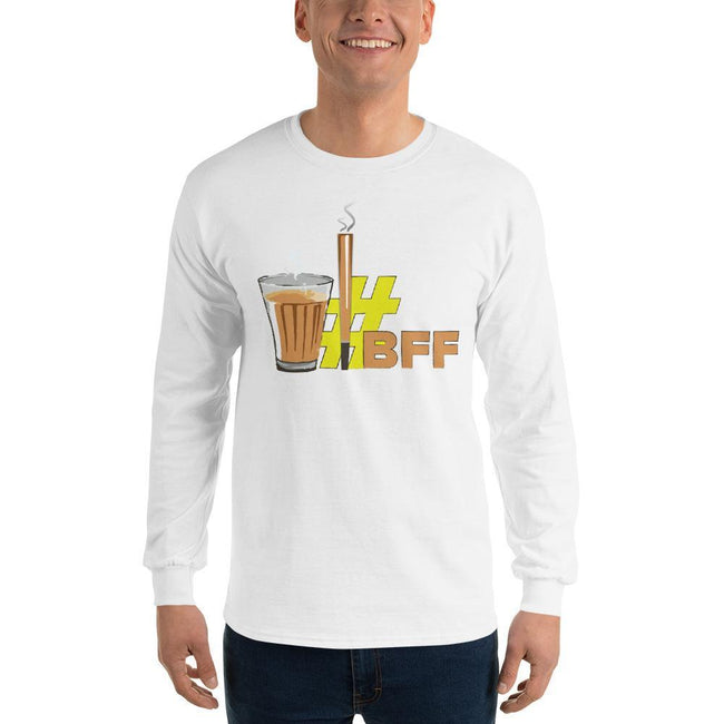 White / S Bengali Ultra Cotton Long Sleeve T-Shirt - BFF