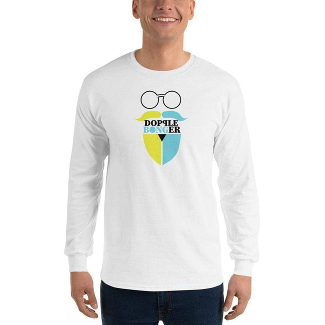 White / S Bengali Ultra Cotton Long Sleeve T-Shirt - Dopple Bonger