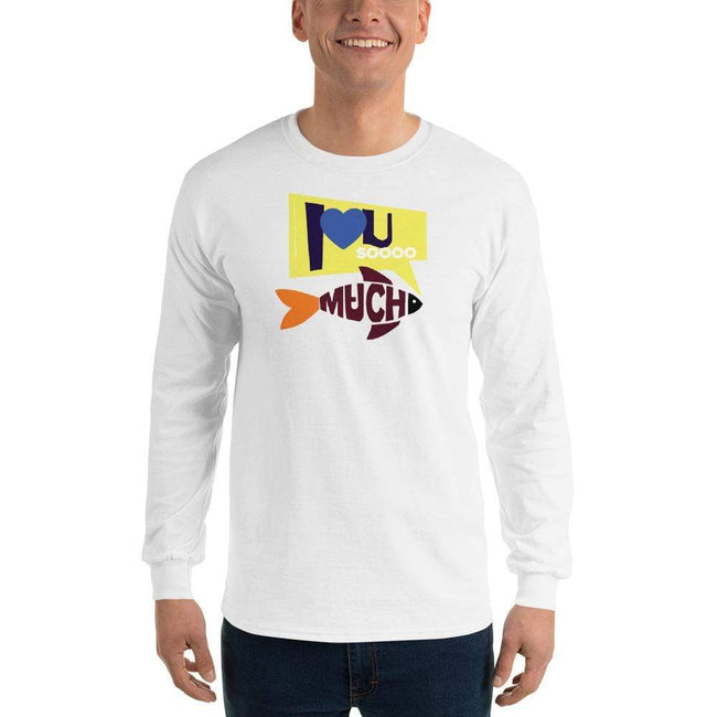 White / S Bengali Ultra Cotton Long Sleeve T-Shirt - I love you so much