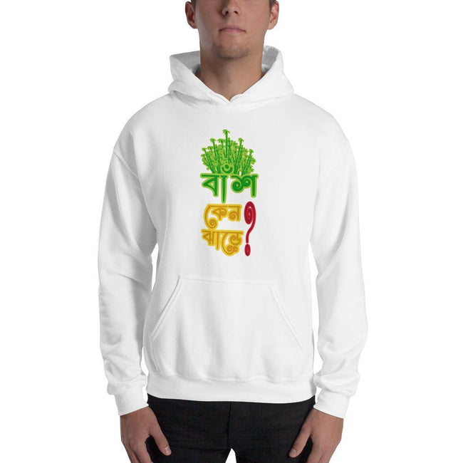 White / S Bengali Unisex Heavy Blend Hooded Sweatshirt - Bans Keno Jhare