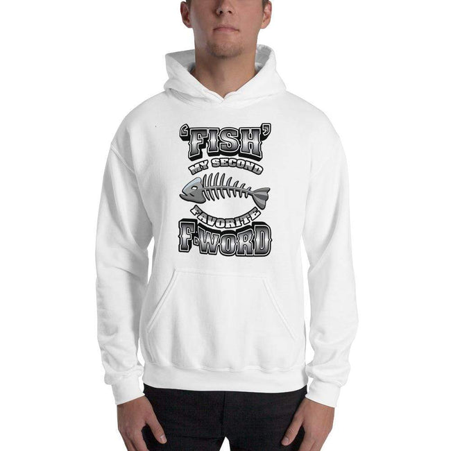 White / S Bengali Unisex Heavy Blend Hooded Sweatshirt - F for Fish