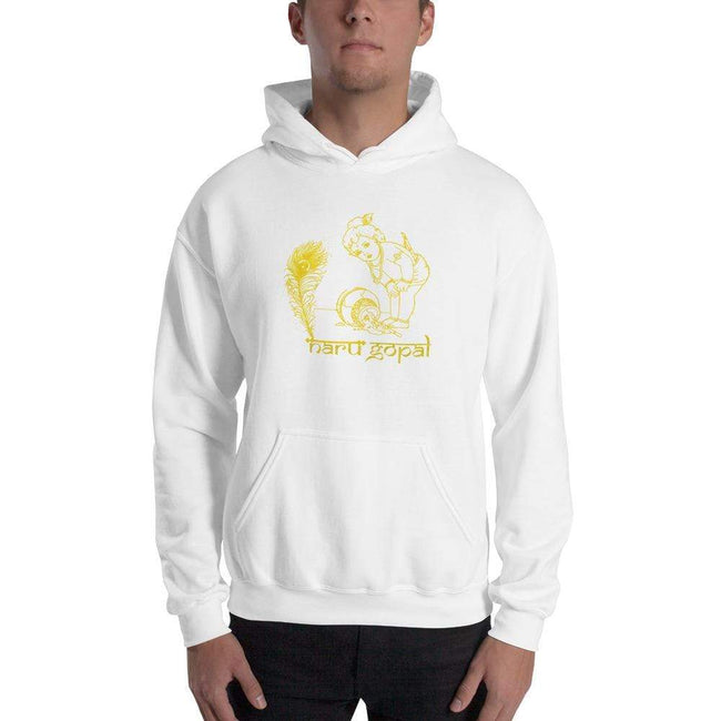 White / S Bengali Unisex Heavy Blend Hooded Sweatshirt - Naru Gopal