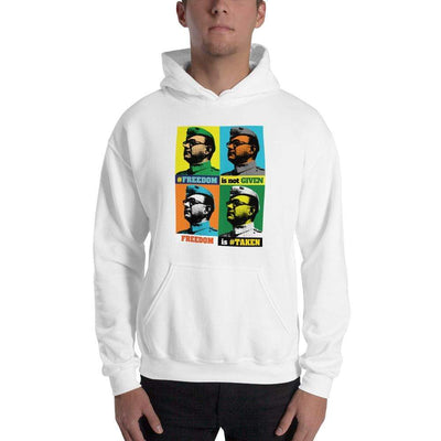 White / S Bengali Unisex Heavy Blend Hooded Sweatshirt - Netaji