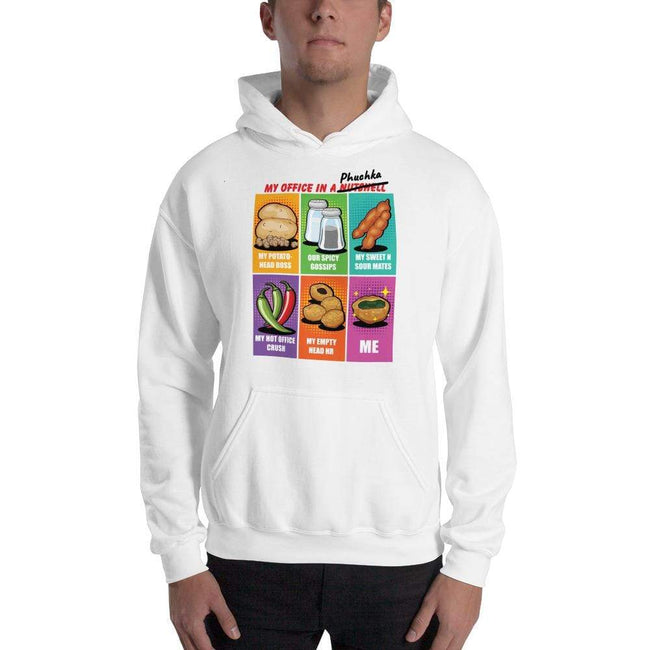 White / S Bengali Unisex Heavy Blend Hooded Sweatshirt - Office Phuchka