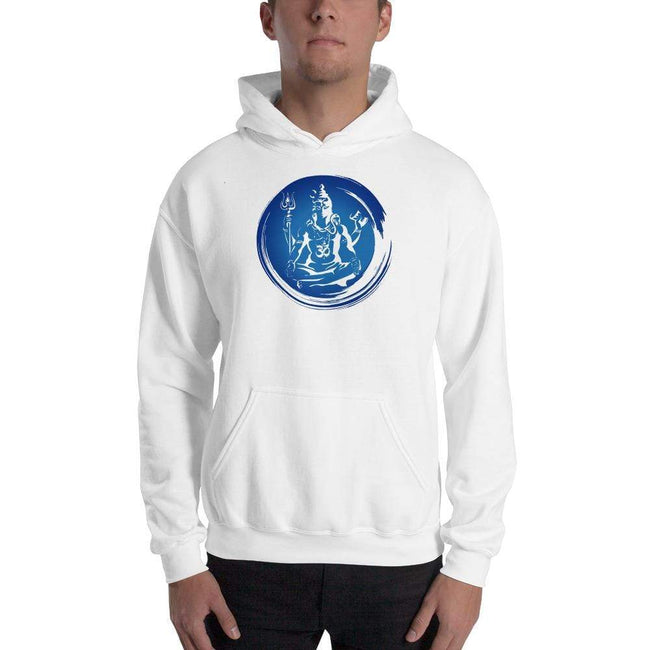 White / S Bengali Unisex Heavy Blend Hooded Sweatshirt - Om