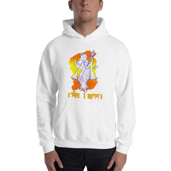 White / S Bengali Unisex Heavy Blend Hooded Sweatshirt - Vidya Roopeno