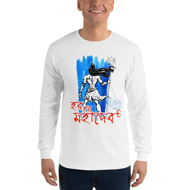 White / S Long Sleeve T-Shirt