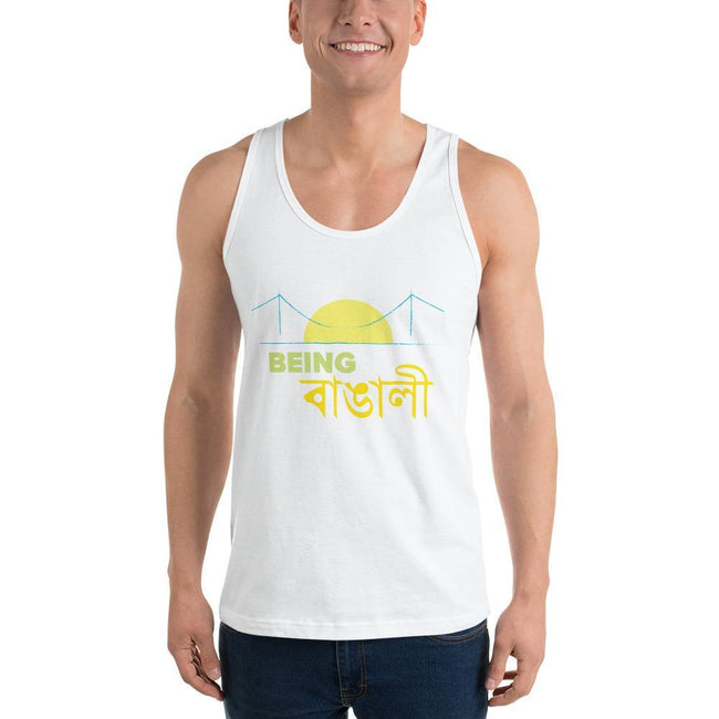 White / XS Bengali Fine Jersey Tank Top Unisex - Being Bangali