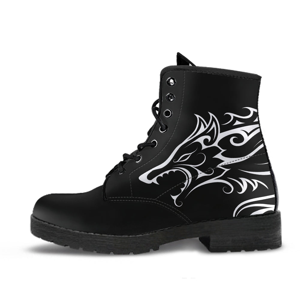Hati and Skoll Wolf - Vegan friendly Leather Boots