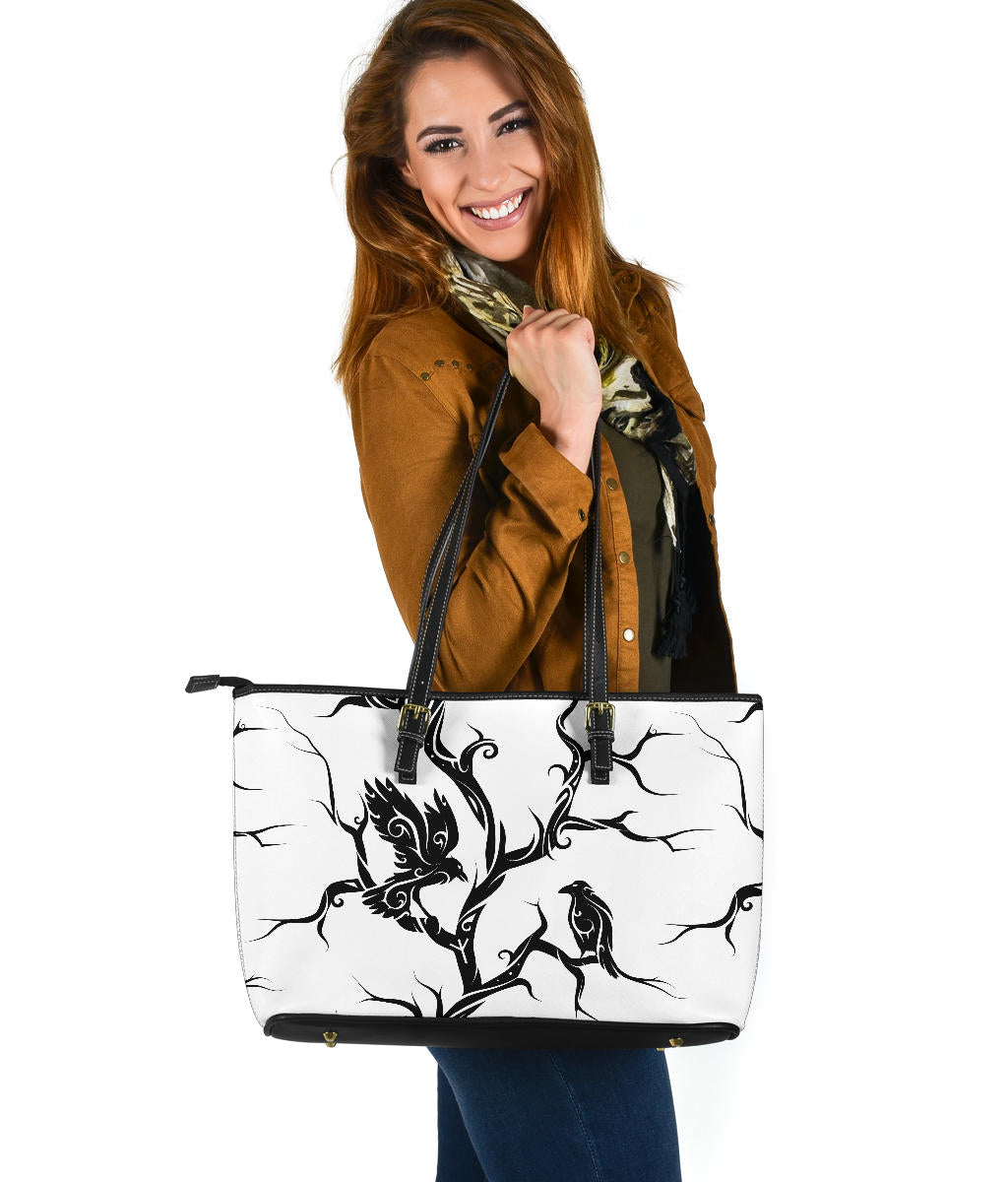 Huginn og Muninn Large Leather Tote