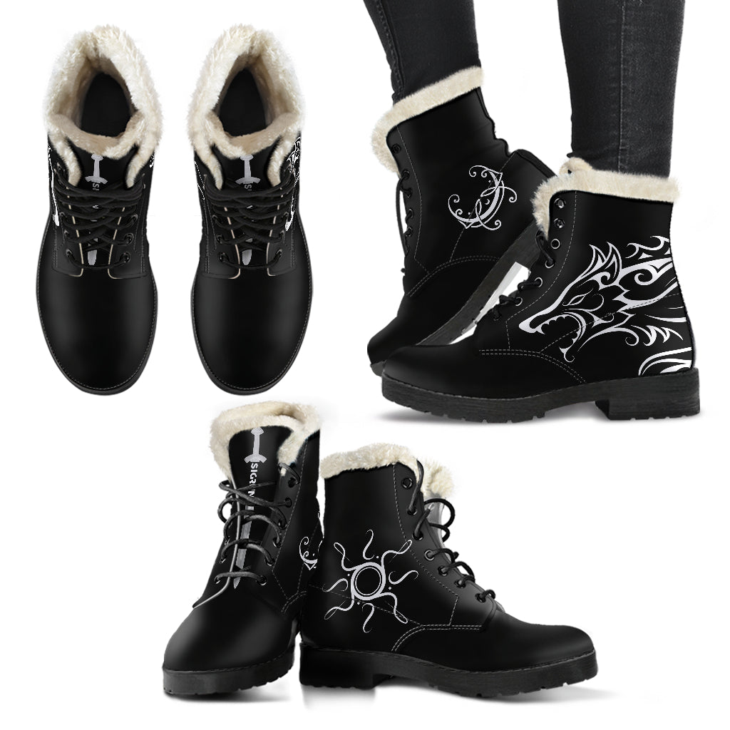 Hati and Skoll Faux Fur Boots