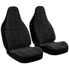 Elder Futhark Car Seat Covers