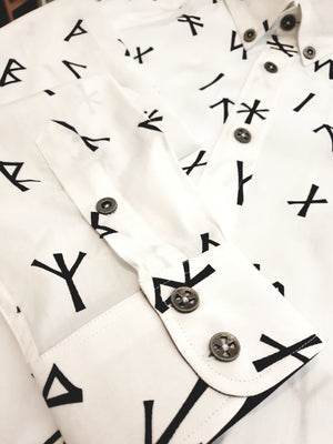 *PRE-SALE* Younger Futhark Runes Button Down Collar Shirt