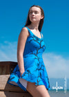 Blue Huginn and Muninn Skater Dress - up to size 22
