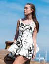 White Huginn and Muninn Skater Dress - up to size 22