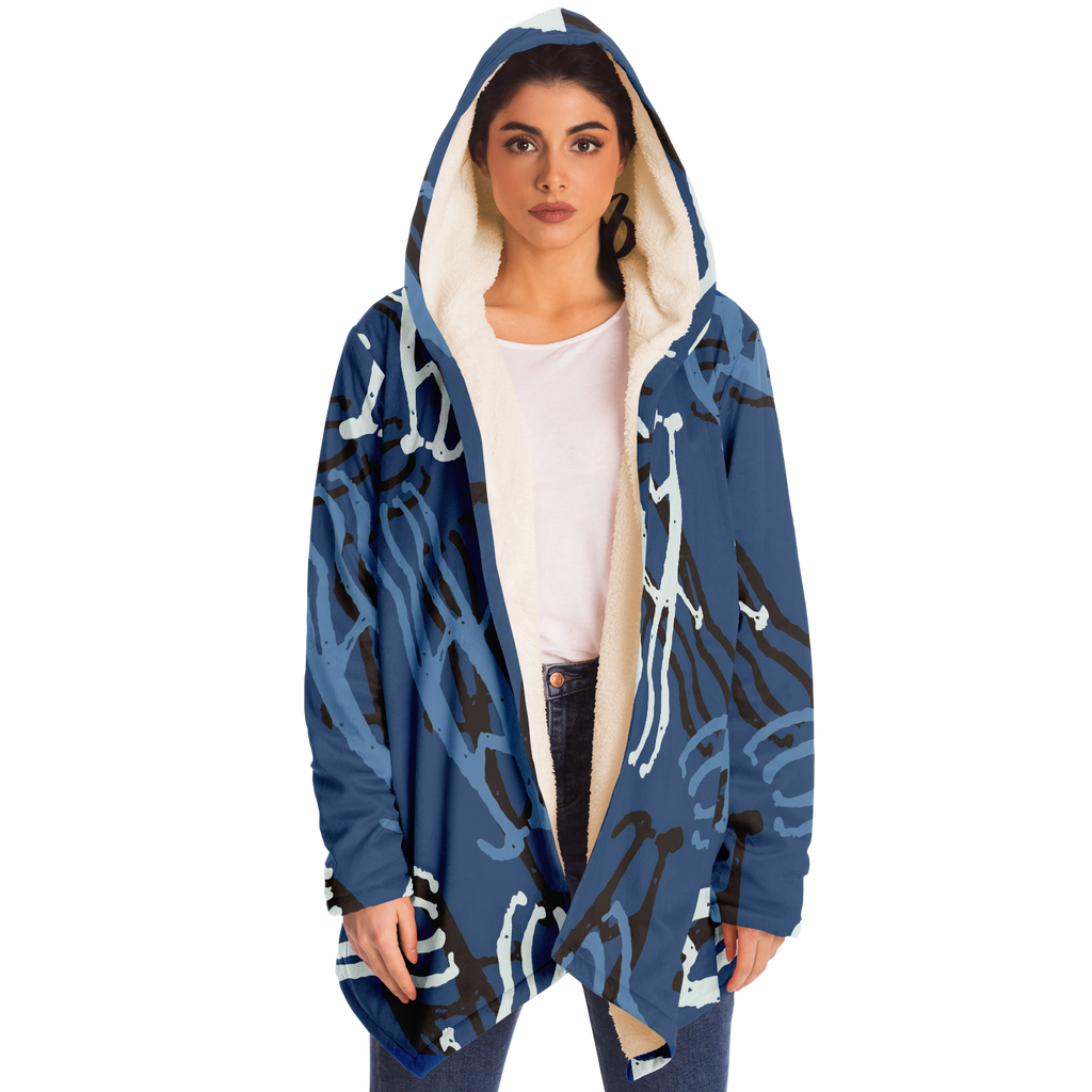 Super Soft Fleece Rock Lovers Blue Hoodie
