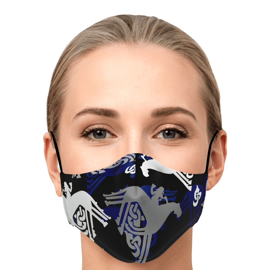 Sleipnir Mask - Blue and Black