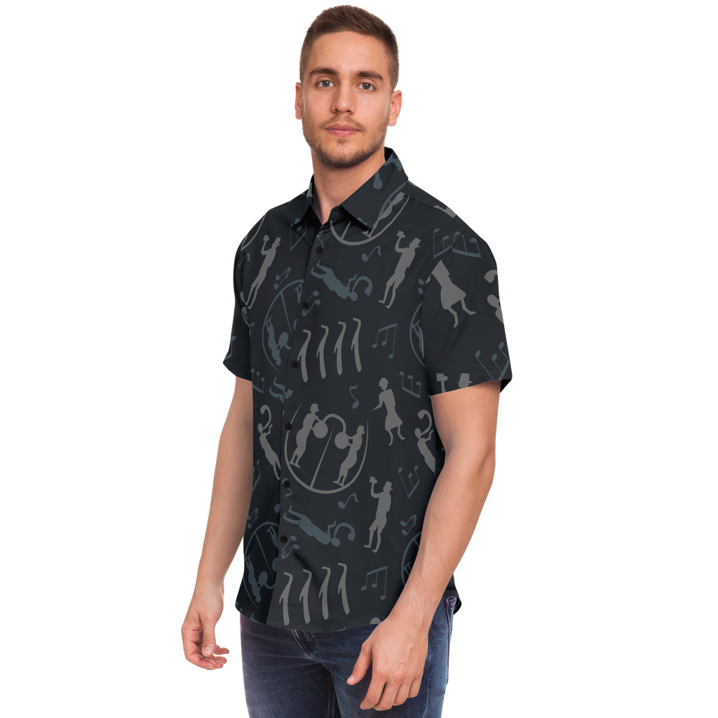 The Musicians of Kivik Short Sleeve Button Down Shirt - Black