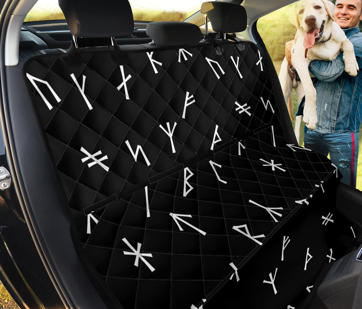 Younger Futhark Runic Car Seat Protector