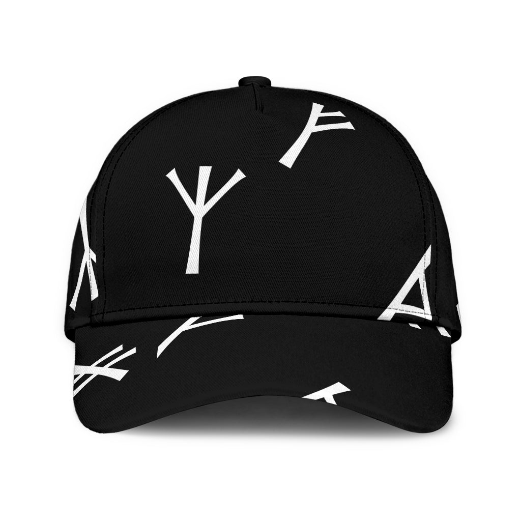Black Younger Futhark Runic Cap