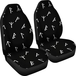 Younger Futhark Black Car Seats (front only)