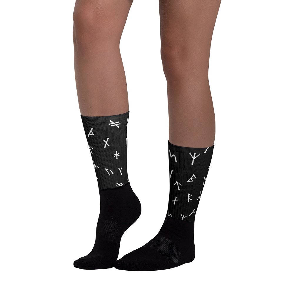 Younger Futhark Runic Socks
