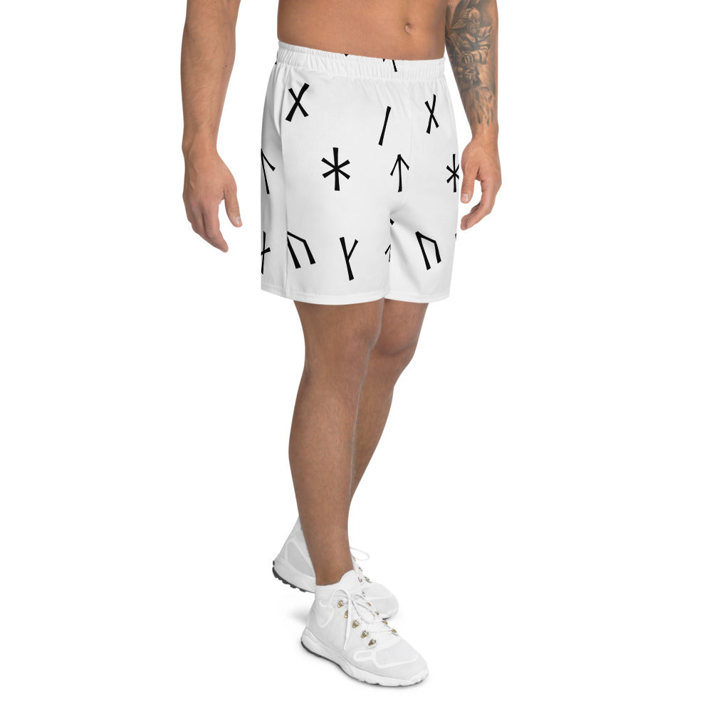 Younger Futhark White Men's Athletic Long Shorts