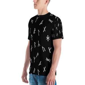 Younger Futhark Runic Black Men's T-shirt