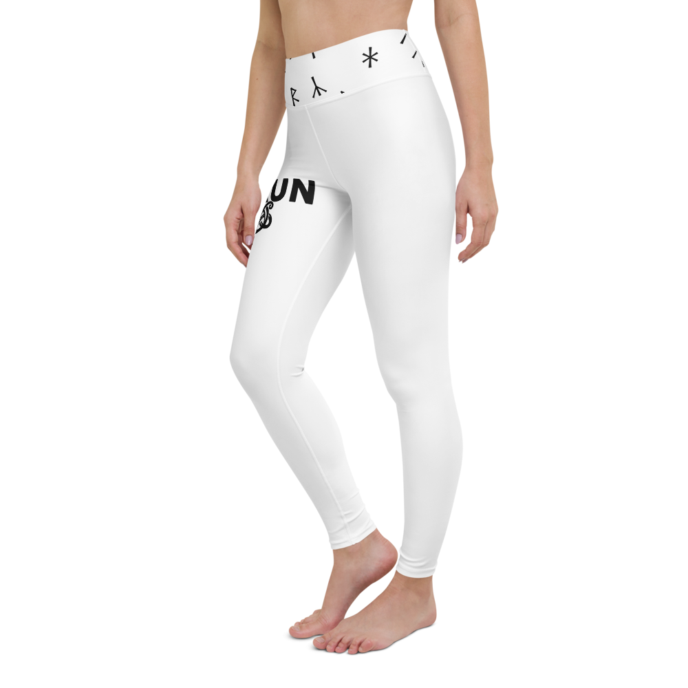 Norsewoman Yoga Leggings - White