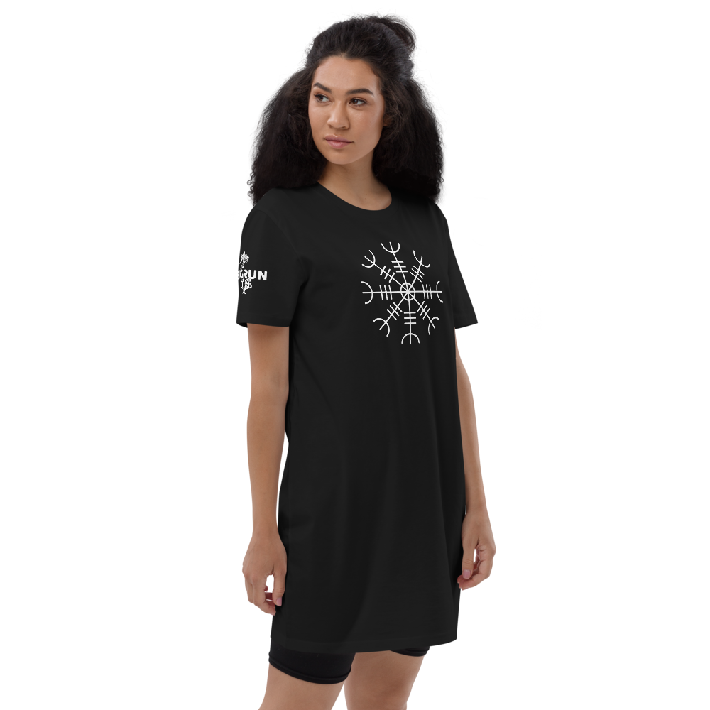 Aegishjalmur Black Organic Cotton T-shirt Dress