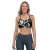 Black Huginn and Muninn Sports bra - up to size 18