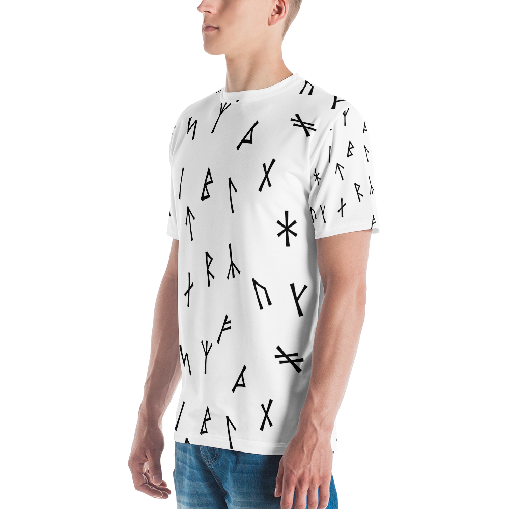 Younger Futhark Runic White Men's T-shirt