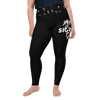 Black Sigrun Wolf Mjolnir Plus Size Leggings
