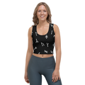 Black Younger Futhark Runic Crop Top