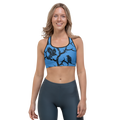 Blue Huginn and Muninn Sports bra - up to size 18
