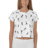 White Younger Futhark Runic Crop Tee